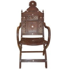 MOROCCAN OR SYRIAN INLAID ARM CHAIR