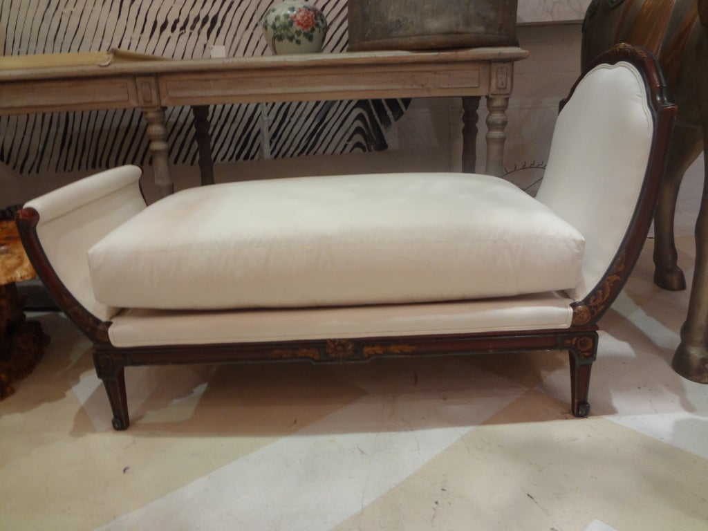 19th century french louis xv louis xvi style chaise longue for Chaise louis xvi