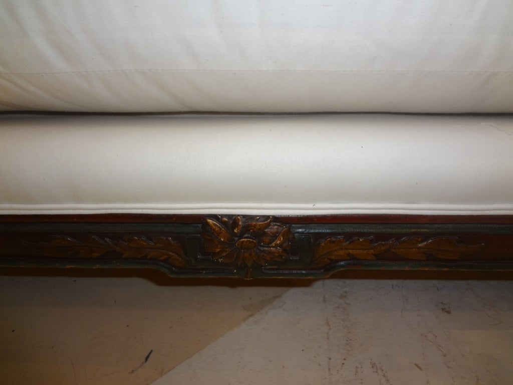19th Century French Louis XVI Style Chaise Longue In Good Condition For Sale In Houston, TX