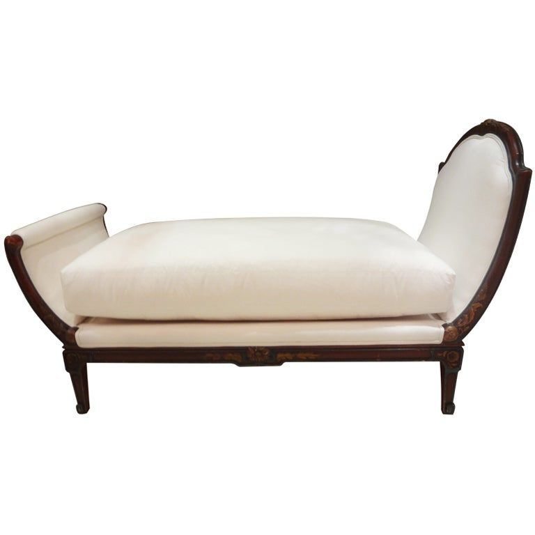 19th century french louis xv louis xvi style chaise longue for Chaise louis xv