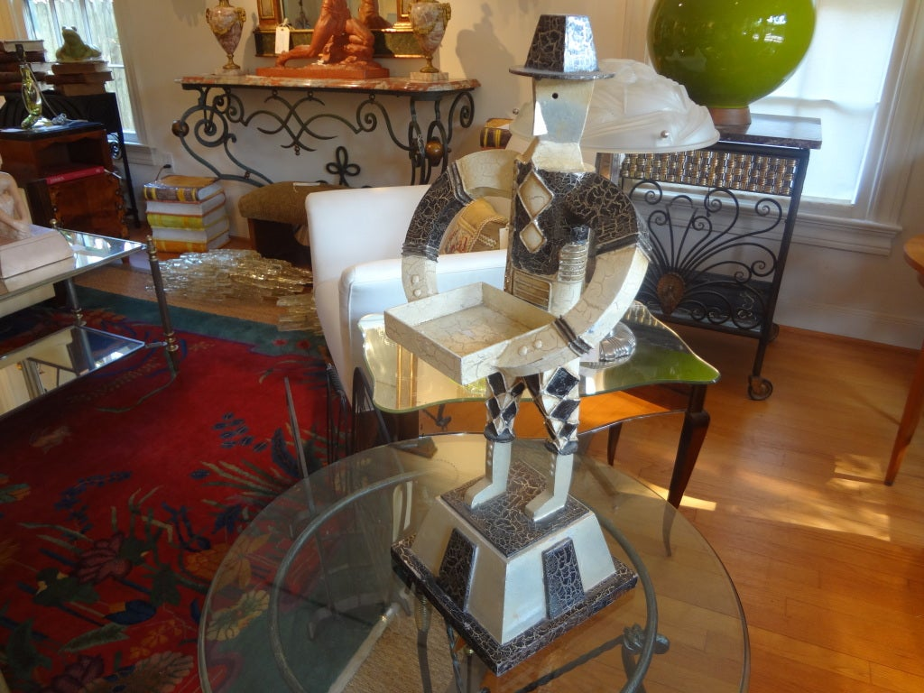 Art Deco Cubist Sculpture, Circa. 1930 In Good Condition For Sale In Houston, TX