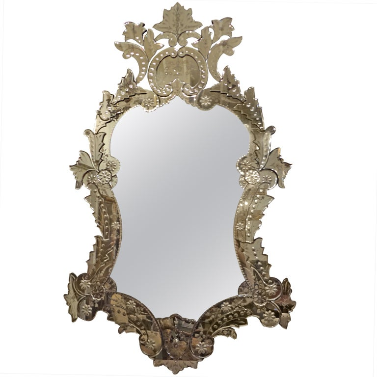 "Monumental Venetian Mirror  78.25"" H"