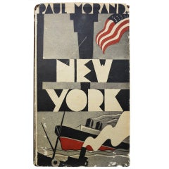 "Rare Paul Morand Book, ""New York"", 1930"