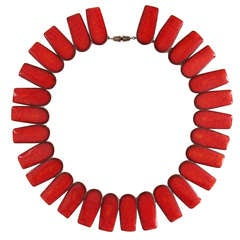 1950s Danish Modern Bronsted Ceramic Necklace