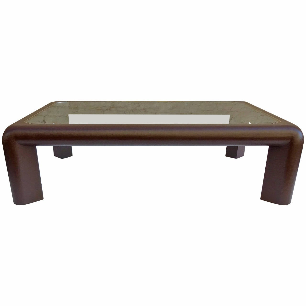 1970s Karl Springer Chocolate Lacquered Linen Cocktail Table For Sale At 1stdibs