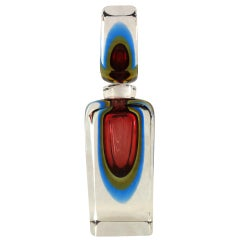 Chic 1970s, Italian Murano Art Glass Decanter