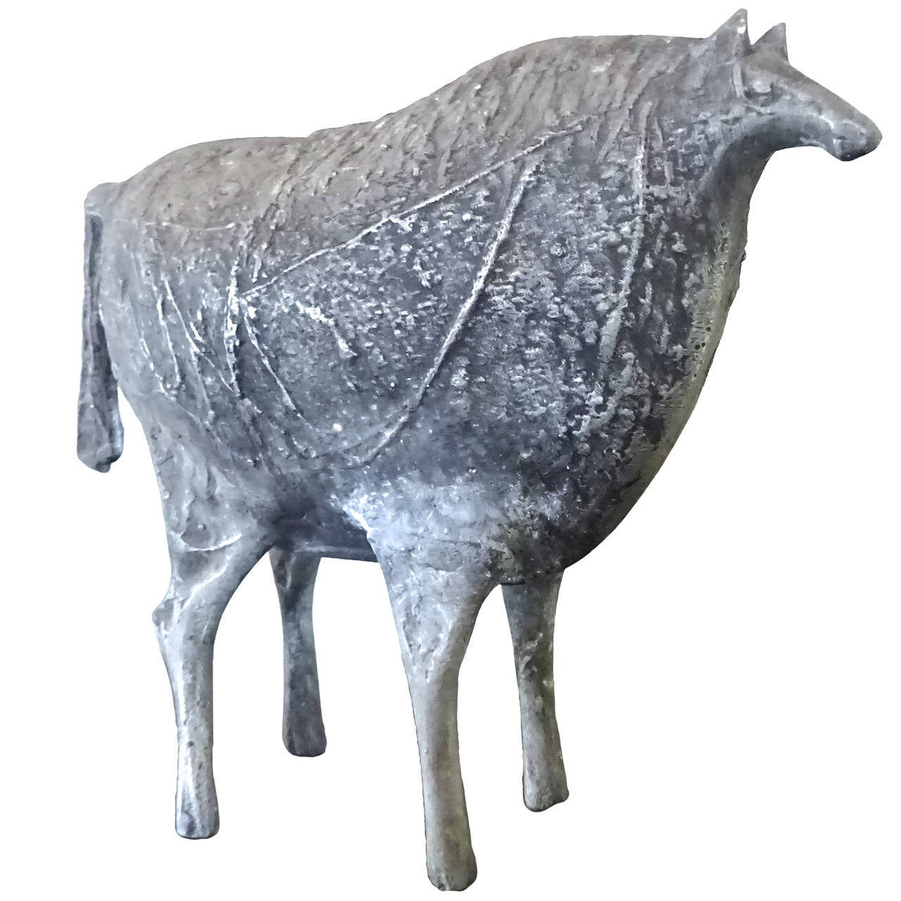 Rare Early 1960s Donald Drumm Horse Sculpture For Sale