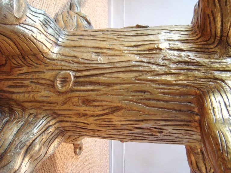 Fabulous david barrett tree trunk dining table image 4 for Tree trunk dining room table
