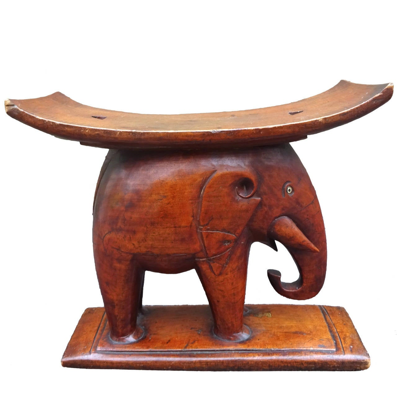 fabulous s african carved mahogany elephant stool at stdibs - fabulous s african carved mahogany elephant stool