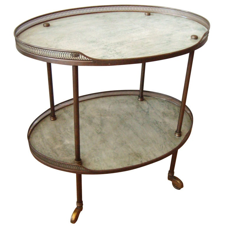 1940 39 S Italian Bronze And Marble Bar Cart At 1stdibs