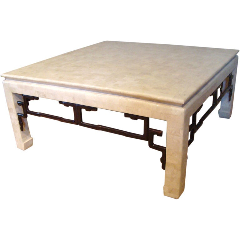 Maitland Smith Stone And Bronze Chinoiserie Cocktail Table At 1stdibs