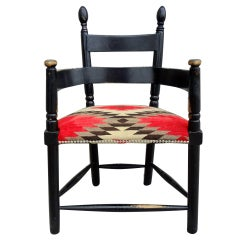 Sculptural 1930's Monterey Style Painted Armchair