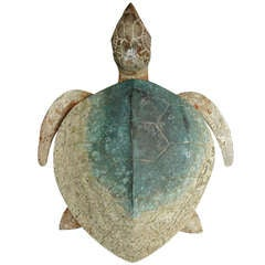 Exceptional 1920's American Art Deco Bronze Sea Tortoise Sculpture
