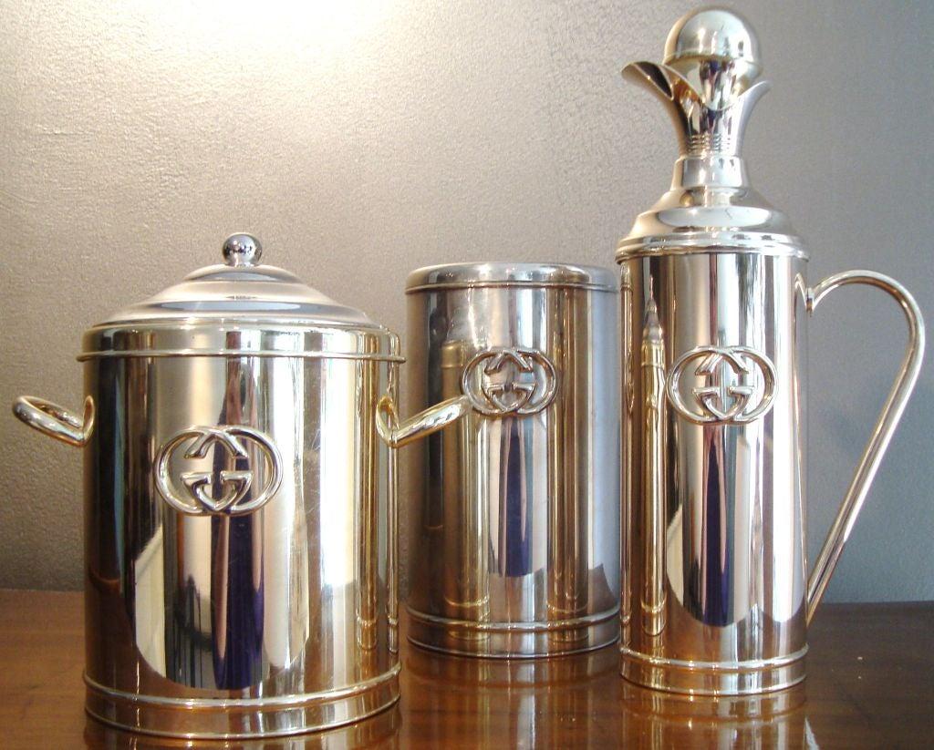 1970s gucci silver plate barware set at 1stdibs