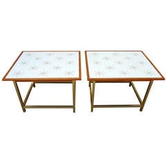Pair of 1950's Kipp Stewart Modern Cocktail Tables