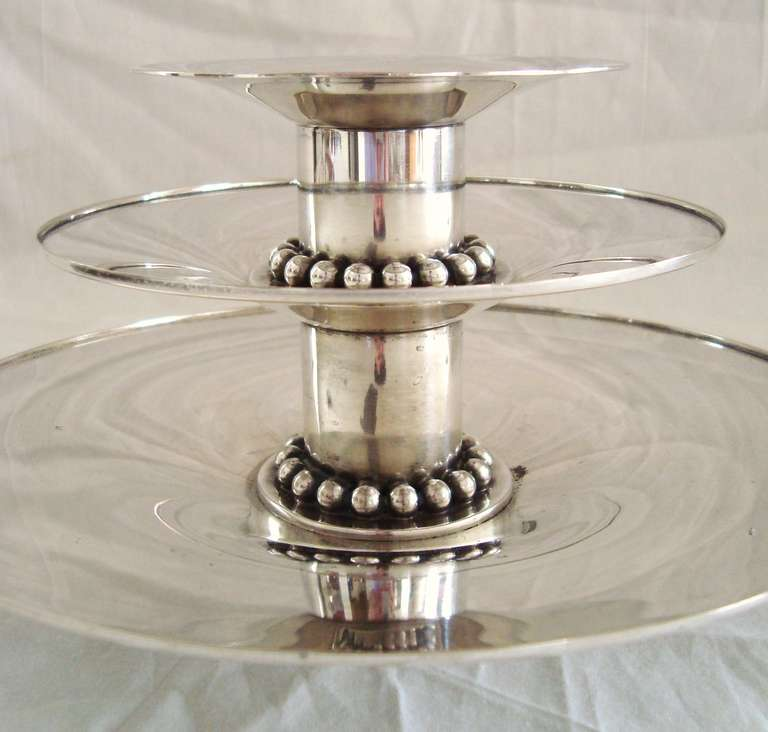 Pair of 1950u0027s Carole Stupell Silverplate Candle Holders After Georg Jensen & Pair of 1950s Carole Stupell Silverplate Candle Holders after Georg ...
