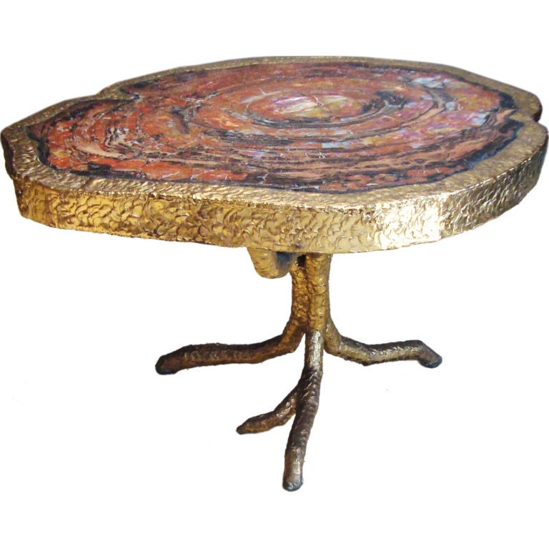 ultra henri fernandez petrified wood and bronze