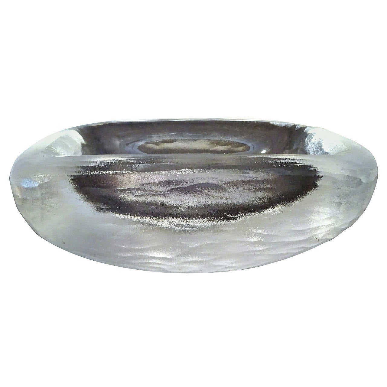 Large Vicke Lindstrand for Orrefors Art Glass Bowl, C 1940 For Sale