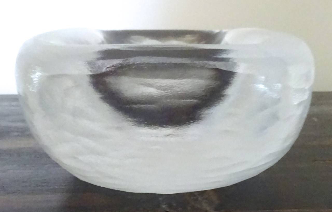 Large Vicke Lindstrand for Orrefors Art Glass Bowl, Sweden, C. 1940