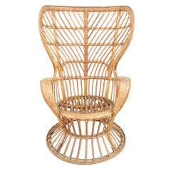 1950's Gio Ponti Wicker Lounge Chair