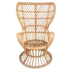1950's Gio Ponti Wicker Lounge Chair