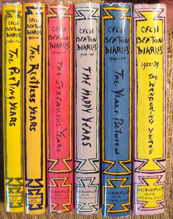 "Rare Complete Six Volume Set, ""The Cecil Beaton Diaries"" 2"