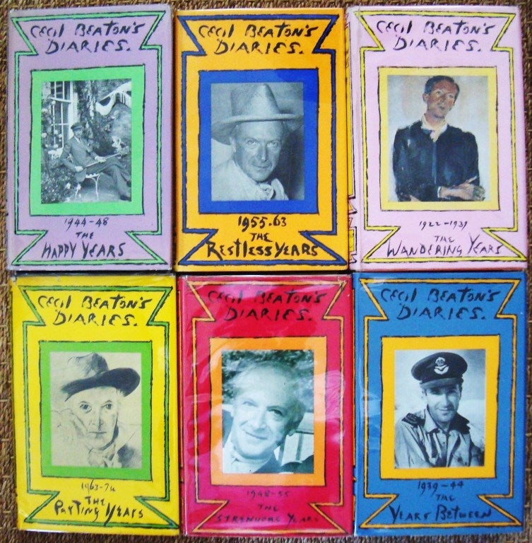 "Rare Complete Six Volume Set, ""The Cecil Beaton Diaries"" 3"