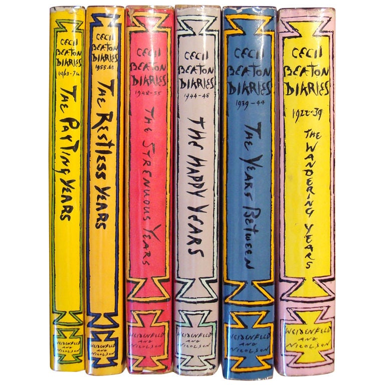 """Rare Complete Six Volume Set, """"The Cecil Beaton Diaries"""" For Sale"""