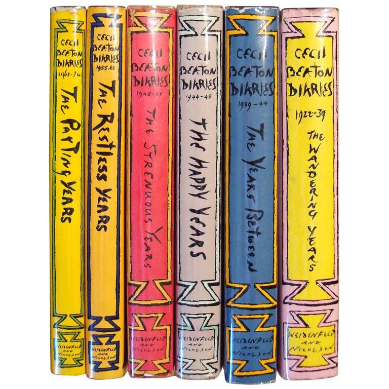 "Rare Complete Six Volume Set, ""The Cecil Beaton Diaries"" 1"