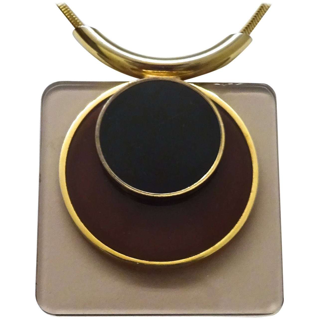 Modernist 1970s, French Lucite Pendant