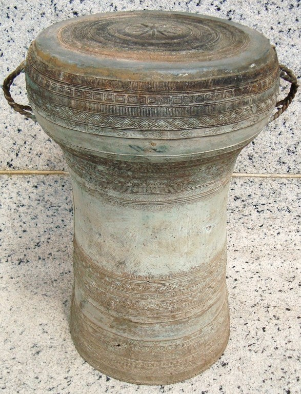 Early 20th C Bronze Asian Rain Drum Stool At 1stdibs