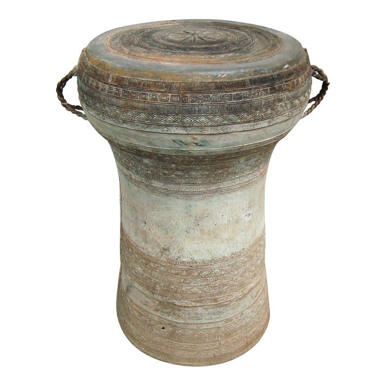 Early 20th C Bronze Asian Rain Drum Stool At 1stdibs