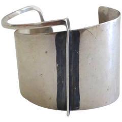 Rare 1950s Ed Wiener Modernist Sterling Bracelet