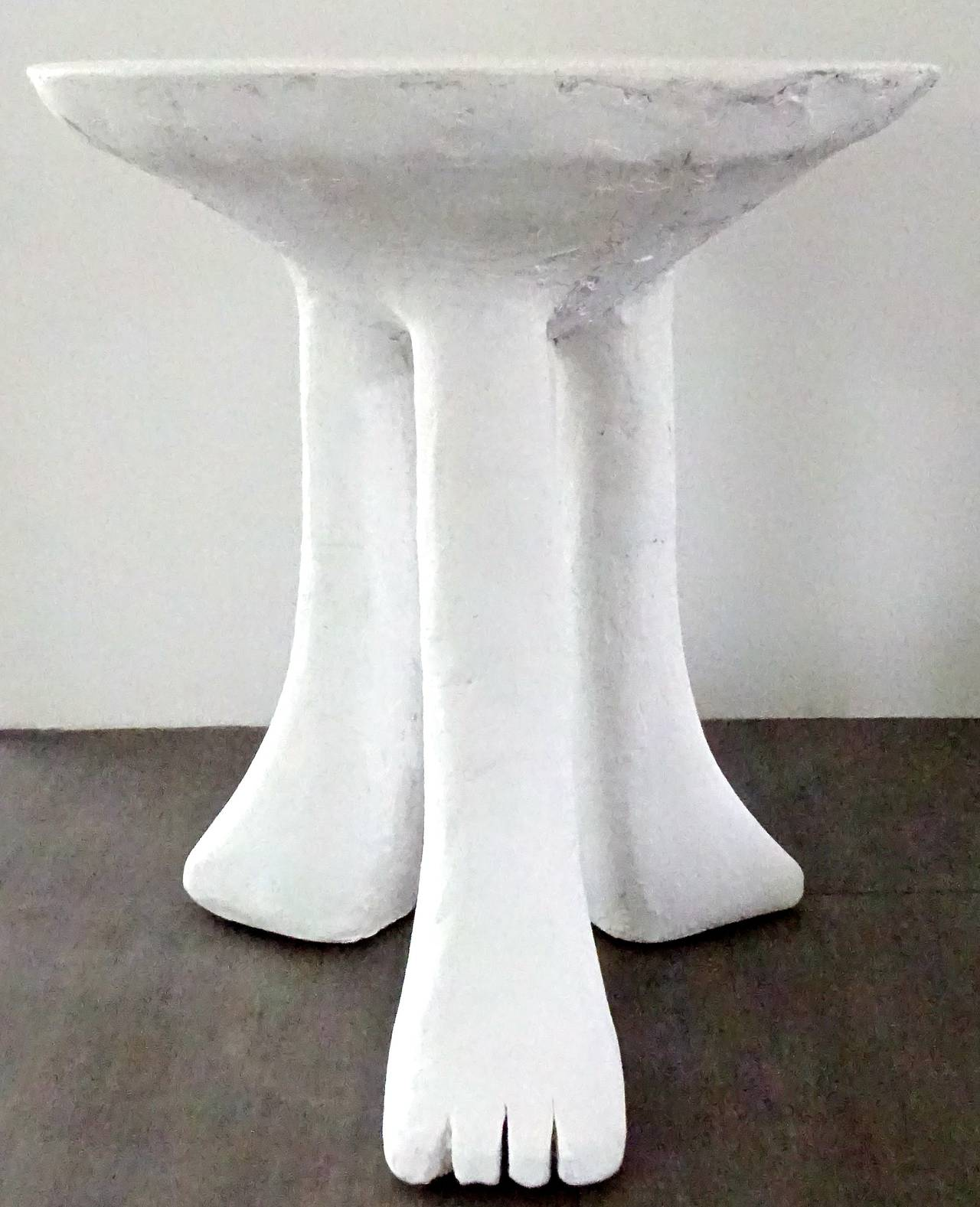 Iconic 1970s John Dickinson Plaster Africa End Table For Sale at