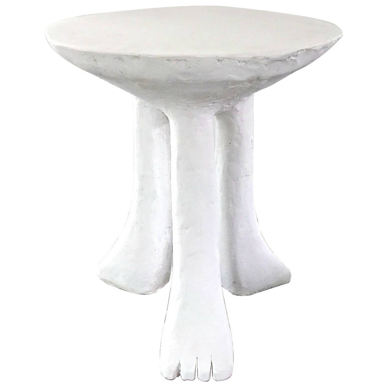 "Iconic 1970s John Dickinson Plaster ""Africa"" End Table"