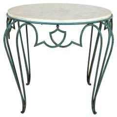 1940s French Rene Drouet Wrought Iron Side Table