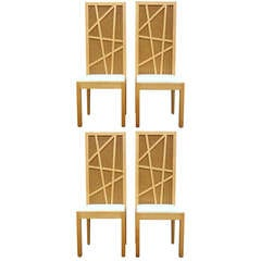 Sculptural Set of Four Laurinda Spear High Backed Dining Chairs, circa 1980