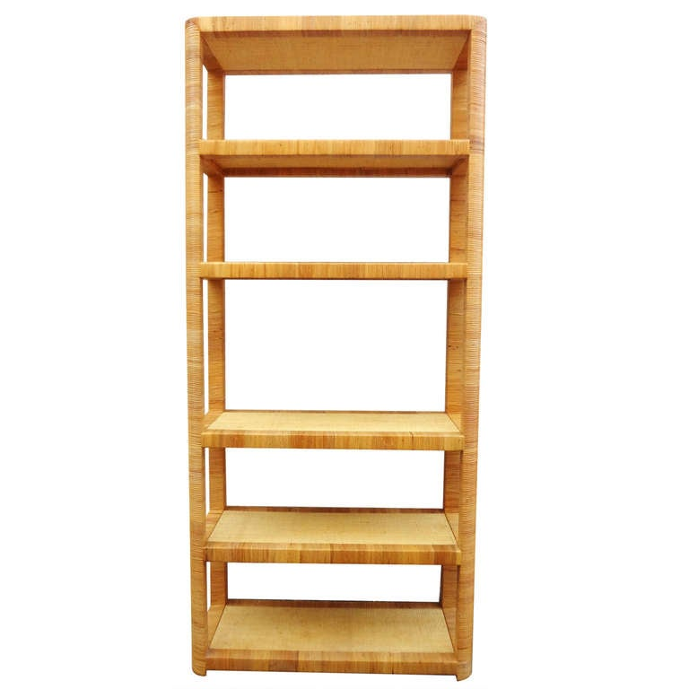 1970 39 s bielecky brothers rattan wrapped etagere at 1stdibs - Etagere cases carrees ...