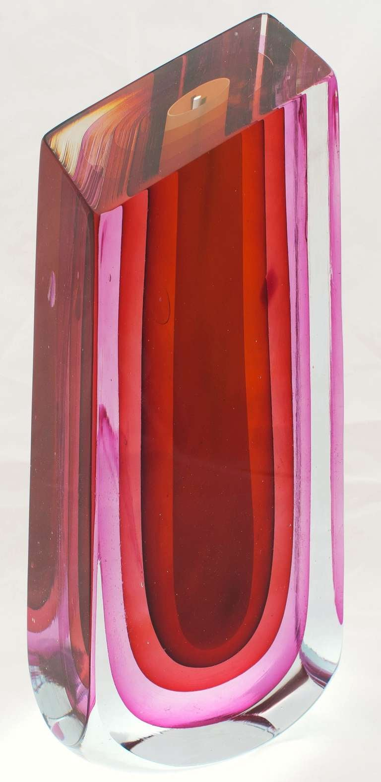 "Rare Harvey Littleton Art Glass Sculpture, ""Oblique Truncated Form"", 1980 image 2"