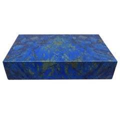 Rare 1970s Cartier Lapis Lazuli Box