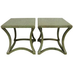 Exceptional Pair of Custom Albert Hadley Tables for Katherine Graham, 1970s
