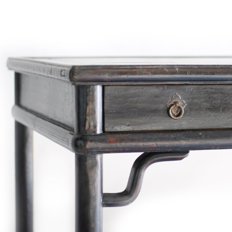 Chinese Black Lacquer Desk At 1stdibs