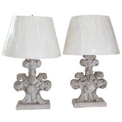 pair of stone column table lamps at 1stdibs. Black Bedroom Furniture Sets. Home Design Ideas
