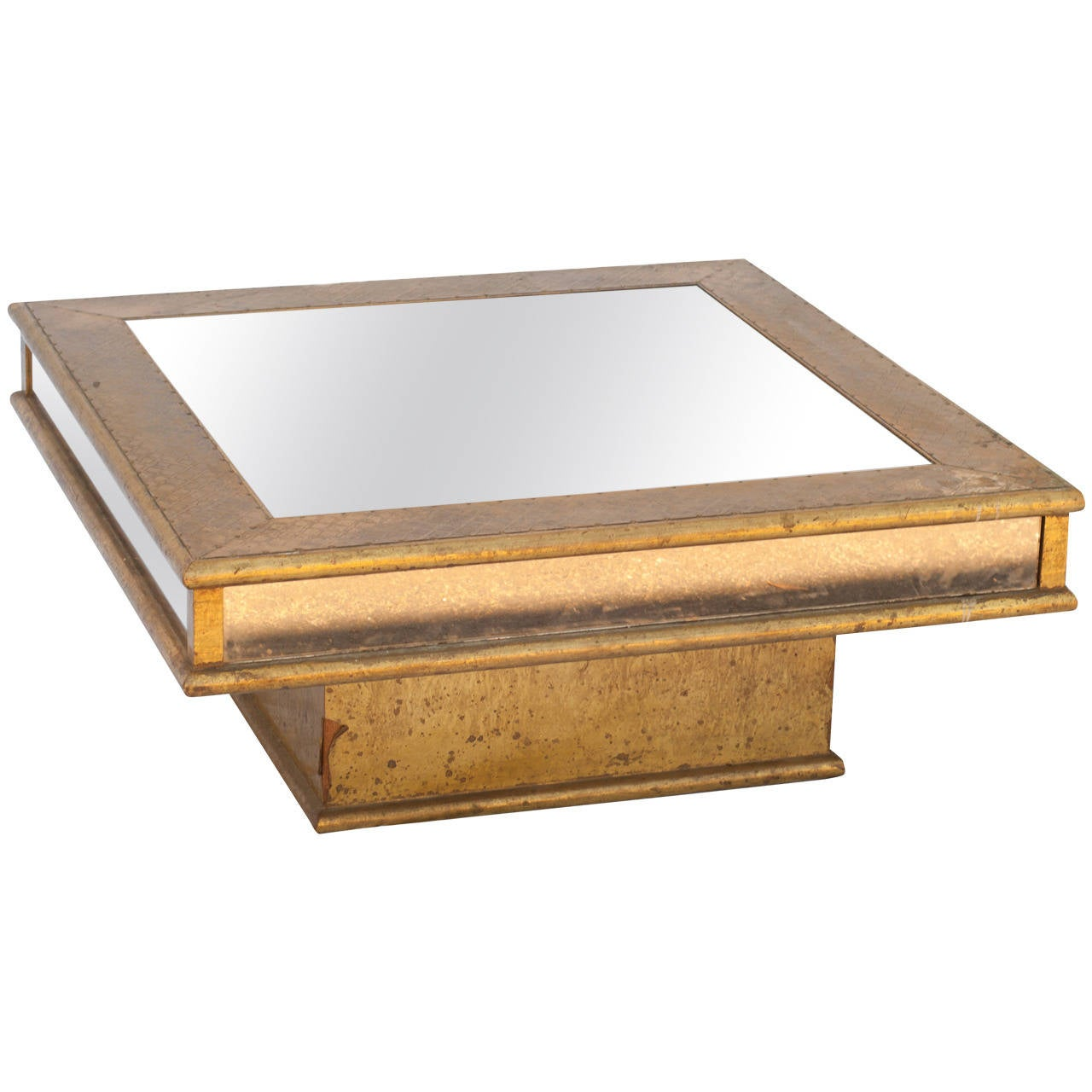 Artisanal Hammered Brass Coffee Table At 1stdibs