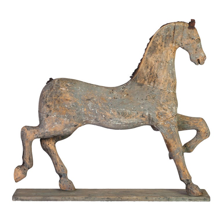 A Large Painted Gustavian Toy Horse At 1stdibs