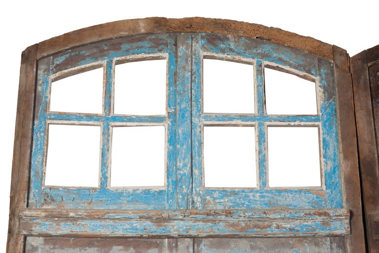 French A Pair of Painted Windows For Sale