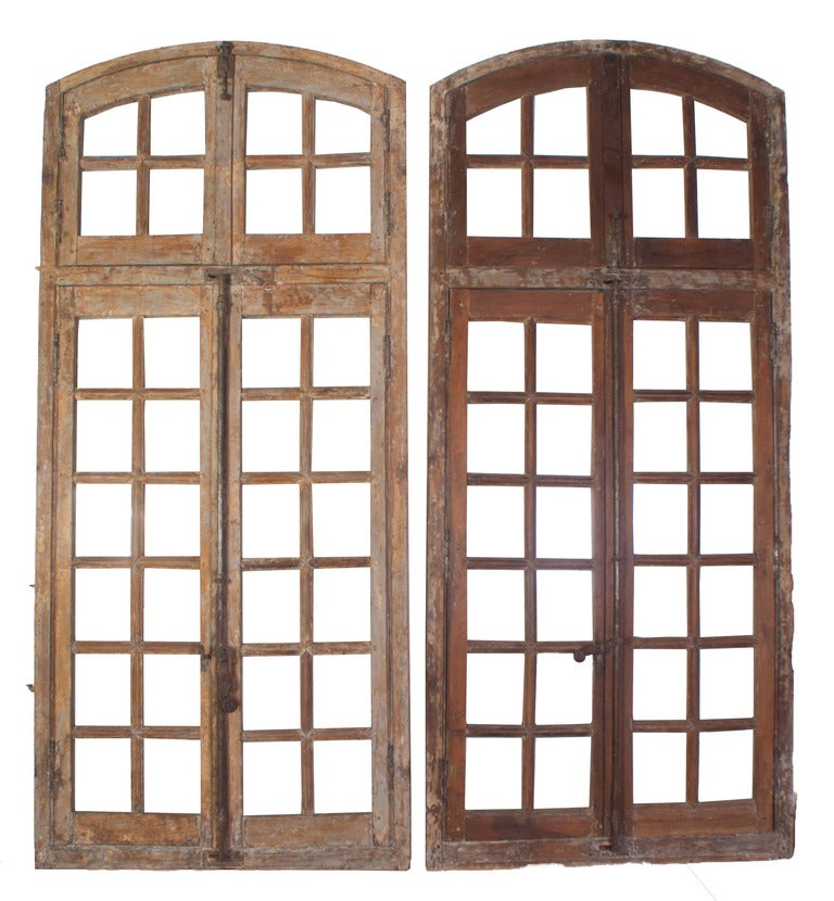 A Pair of Painted Windows For Sale 2