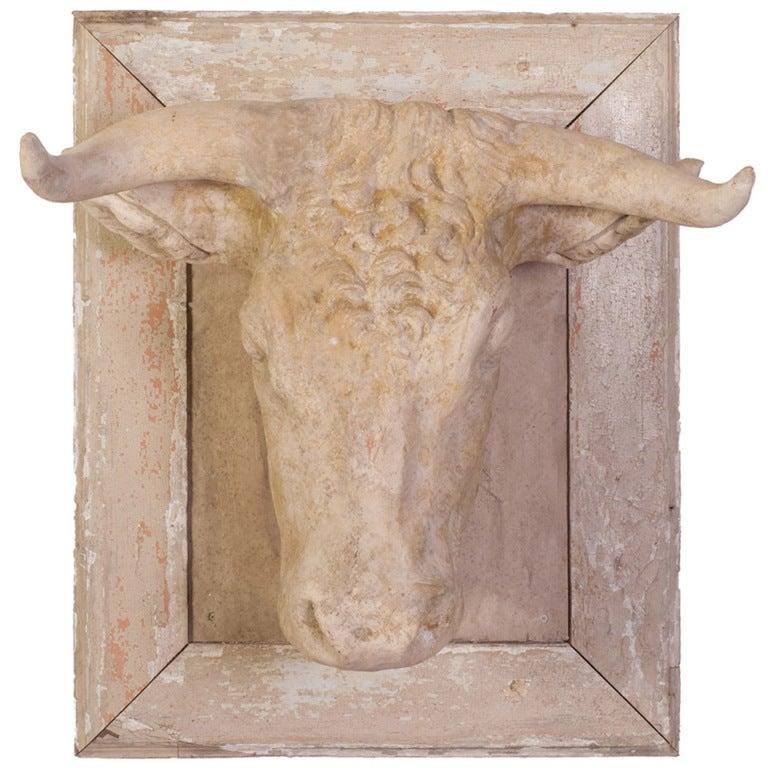 white terra cotta butcher trade sign listed 4200 sold 3570 abt at 1stdibs. Black Bedroom Furniture Sets. Home Design Ideas