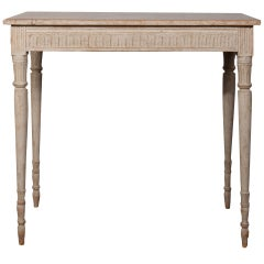 A Gustavian Console Table with Original Paint
