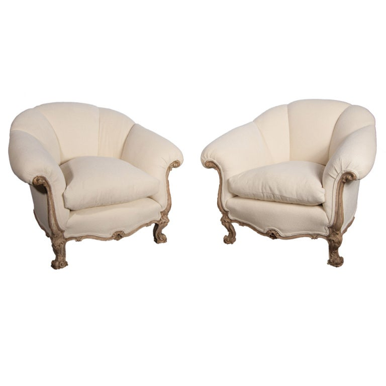 Italian Baroque Style Club Chairs At 1stdibs